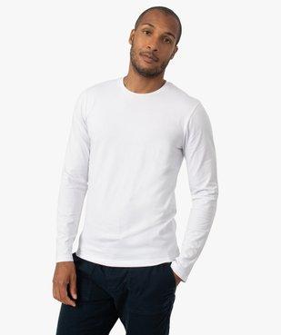 Tee-shirt homme à manches longues et col rond coupe slim vue1 - GEMO (HOMME) - GEMO
