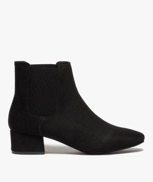 Boots femme unies style chelsea à talon carré vue1 - GEMO (CASUAL) - GEMO