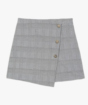 Jupe short femme effet portefeuille motif Prince de Galles  vue4 - GEMO(FEMME PAP) - GEMO