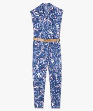 Combinaison pantalon femme imprimée avec ceinture vue4 - GEMO(FEMME PAP) - GEMO