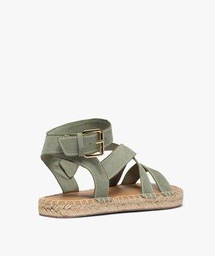 Sandales femme à talon plat et bride enroulée à la cheville - Only Only vue4 - ONLY - Nikesneakers