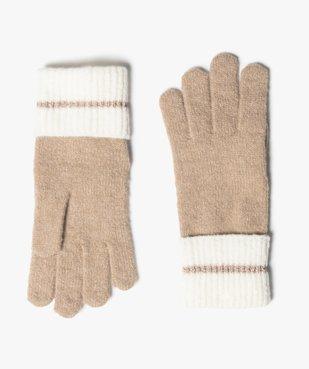 Gants femme avec poignets contrastant et liseré pailleté vue1 - GEMO (ACCESS) - GEMO