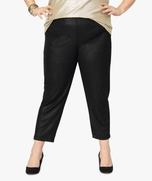 Pantalon femme irisé à taille élastiquée vue1 - GEMO (G TAILLE) - GEMO