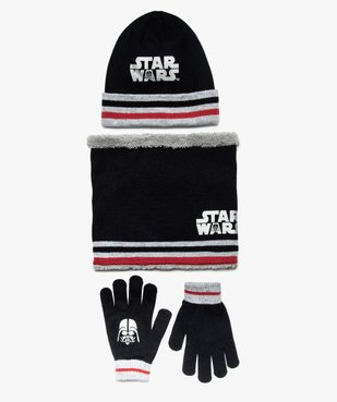 Ensemble garçon 3 pièces : bonnet + écharpe + gants - Star Wars vue1 - STAR WARS - GEMO