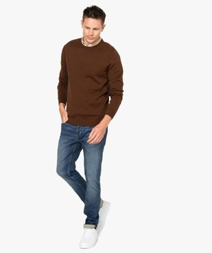 Jean homme coupe slim extensible vue5 - GEMO (HOMME) - GEMO