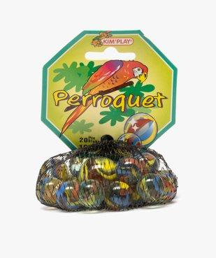 Sac de billes en verre multicolores – Perroquet Kim'Play vue1 - KIM PLAY - GEMO
