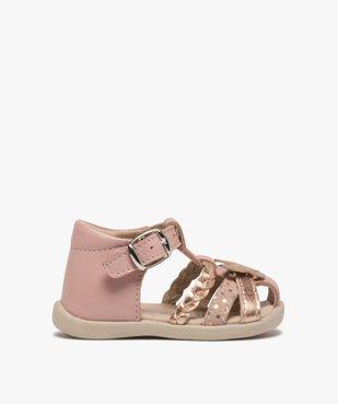 Sandales premiers pas bébé fille en cuir vue1 - Nikesneakers(BEBE DEBT) - Nikesneakers