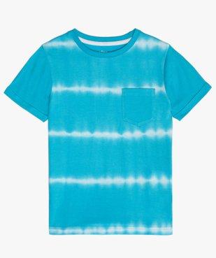 Tee-shirt garçon à manches courtes effet tie-and-dye vue1 - GEMO (ENFANT) - GEMO