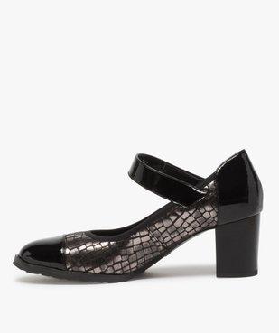 Escarpins femme confort à bride scratch et détails vernis vue3 - Nikesneakers(URBAIN) - Nikesneakers