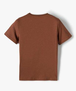 Tee-shirt garçon à manches courtes et grand motif vue4 - GEMO (JUNIOR) - GEMO