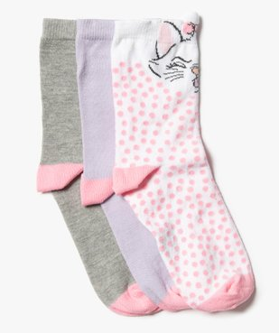 Chaussettes fille tige haute imprimées Les Aristochats - Disney (lot de 3) vue1 - DISNEY DTR - Nikesneakers