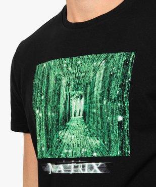 Tee-shirt homme manches courtes imprimé - Matrix vue2 - MATRIX - GEMO