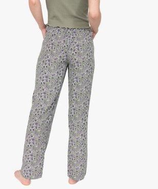 Pantalon de pyjama femme à motifs fleuris vue3 - GEMO(HOMWR FEM) - GEMO