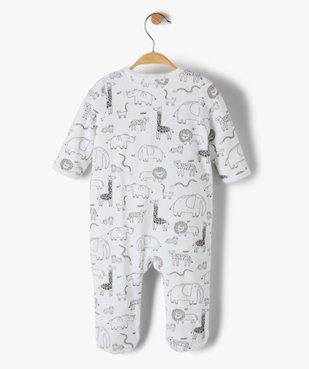 Pyjama bébé garçon en velours avec motifs animaux et inscription vue3 - GEMO(BB COUCHE) - GEMO