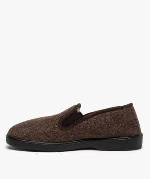 Chaussons homme dessus en tissu à chevrons vue3 - THERITEX - Nikesneakers