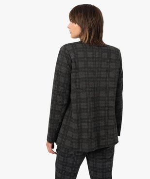 Veste femme à carreaux et col tailleur vue3 - GEMO(FEMME PAP) - GEMO