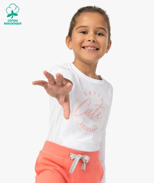 Tee-shirt fille à manches longues avec motif girly vue1 - Nikesneakers C4G FILLE - Nikesneakers