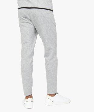 Pantalon homme en maille à taille élastiquée vue3 - GEMO (HOMME) - GEMO