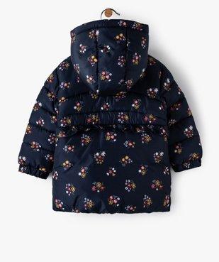 Blouson bébé fille à capuche avec motifs fleuris vue4 - GEMO(BEBE DEBT) - GEMO