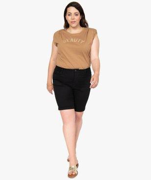 Tee-shirt femme à épaulettes avec message pailleté vue5 - Nikesneakers (G TAILLE) - Nikesneakers