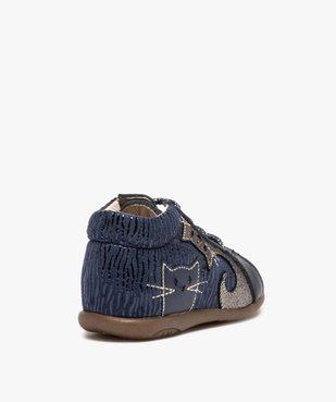 Chaussures premiers pas bébé avec motifs chats - Bopy vue4 - BOPY - Nikesneakers