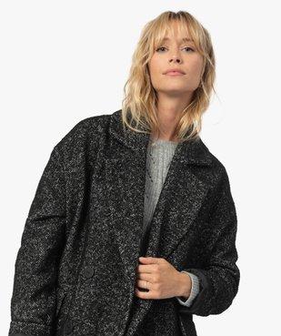 Manteau femme mi-long à double boutonnage vue5 - Nikesneakers(FEMME PAP) - Nikesneakers