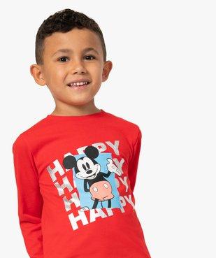 Tee-shirt garçon à manches longues avec motif Mickey - Disney vue1 - DISNEY DTR - GEMO