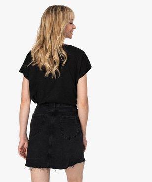 Tee-shirt femme large à manches ultra courtes  vue3 - GEMO(FEMME PAP) - GEMO