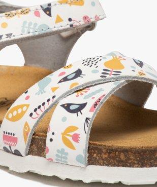 Sandales bébé fille imprimées en cuir fermeture scratch vue6 - SEAQUAL - GEMO