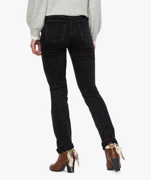 Jean femme regular taille normale noir avec ceinture vue3 - GEMO(FEMME PAP) - GEMO