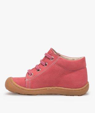 Chaussures premiers pas bébé fille en cuir à lacets vue3 - Nikesneakers(BEBE DEBT) - Nikesneakers