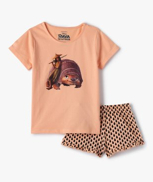 Pyjashort fille imprimé - Raya et le Dernier Dragon vue1 - DISNEY DTR - GEMO