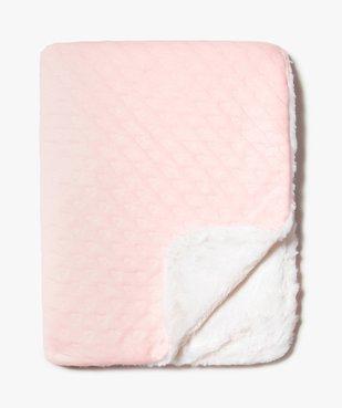Couverture plaid bébé bicolore vue2 - GEMO(BB COUCHE) - GEMO