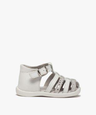 Sandales premiers pas bébé fille à brides en cuir vue1 - Nikesneakers(BEBE DEBT) - Nikesneakers