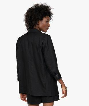 Veste femme coupe blazer  vue3 - GEMO(FEMME PAP) - GEMO