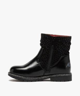Boots fille à semelle crantée et finitions pailletées - Minnie  vue4 - MINNIE - GEMO