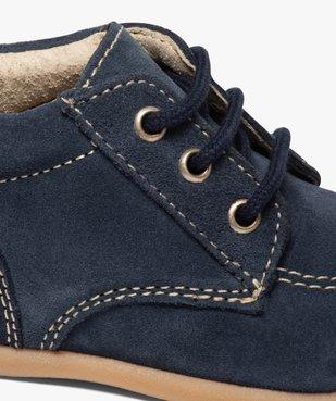 Chaussures premiers pas bébé garçon unies en cuir vue6 - GEMO(BEBE DEBT) - GEMO