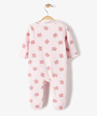 Pyjama bébé fille à motifs chats vue3 - GEMO(BB COUCHE) - GEMO