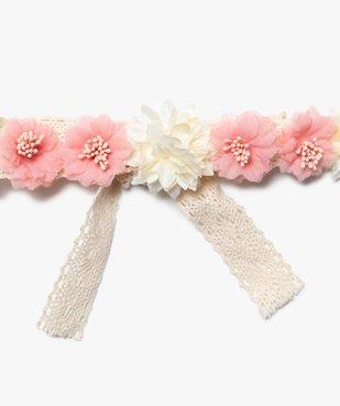 Bandeau à cheveux femme en crochet à fleurs vue2 - GEMO (ACCESS) - GEMO