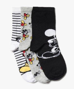 Chaussettes garçon à tige haute imprimées - Mickey (lot de 3) vue1 - DISNEY DTR - GEMO