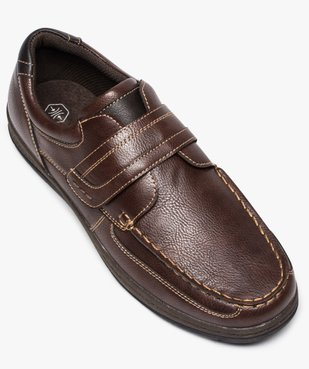 Chaussures bateau homme confort fermeture scratch vue5 - GEMO (CONFORT) - GEMO
