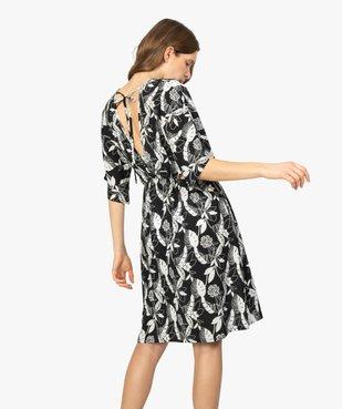 Robe de plage femme à motifs fleuris et fentes à la taille vue3 - GEMO (PLAGE) - GEMO