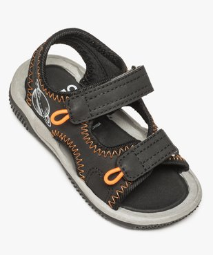 Sandales bébé garçon à fermeture double scratch vue5 - GEMO(BEBE DEBT) - GEMO
