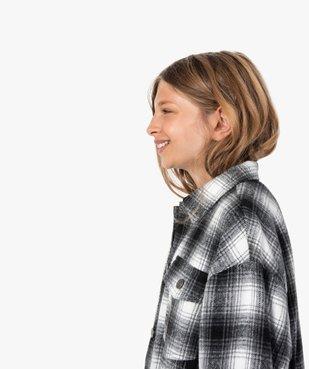 Veste fille façon chemise à carreaux vue1 - GEMO (ENFANT) - GEMO