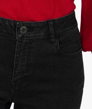 Jean femme slim à taille haute denim noir - L30 vue2 - GEMO(FEMME PAP) - GEMO
