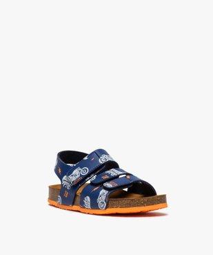 Sandales garçon imprimées à brides scratch vue2 - Nikesneakers (ENFANT) - Nikesneakers