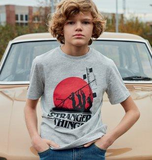 Tee-shirt garçon avec motif XXL- Stranger Things vue4 - STRANGER THINGS - GEMO