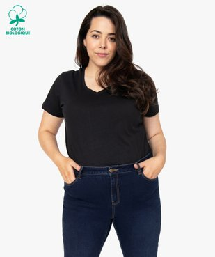 Tee-shirt femme à manches courtes et col V vue1 - Nikesneakers (G TAILLE) - Nikesneakers