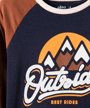 Tee-shirt garçon à manches longues multicolore à motif velours vue3 - Nikesneakers (ENFANT) - Nikesneakers