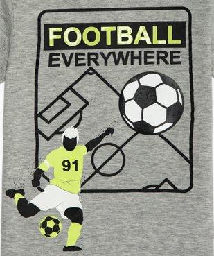 Tee-shirt garçon avec motif football vue2 - GEMO (ENFANT) - GEMO